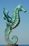 Seahorse statute on Malecón in Puerto Vallarta II Royalty Free Stock Photo