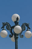 Seahorse Street Lamp Royalty Free Stock Photography