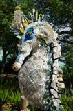 Seahorse van gerecycleerd plastiek van de oceaan royalty-vrije stock afbeelding