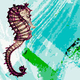 Seahorseillustration Arkivfoton