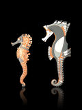 Seahorses crafted from clay Stock Photo