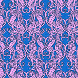 Seahorses Deseniują 3 koloru Obraz Royalty Free