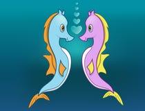 Seahorses nell'amore Immagini Stock Libere da Diritti