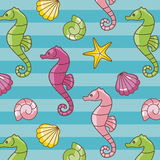 Seahorses pattern Royalty Free Stock Image