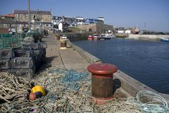 Seahouses Harbour Royalty Free Stock Images