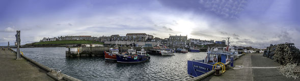Seahouses Harbour 8901 Pano Royalty Free Stock Photo