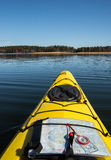 Seakayaking in summer time. Seakayaking around Stockholm Archipelago in summer time Stock Photography