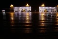 Seaking直升机,军事在机场搜寻并且抢救 免版税库存照片