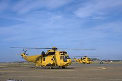 Seaking search and rescue helicopter Stock Image