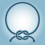 Seaknot ring. Vector illustration of a ring frame with with a sea knots Royalty Free Stock Images