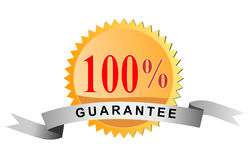 Seal 100% guarantee. Vector art of a Seal 100% guarantee on white background stock illustration