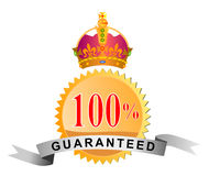 Seal 100% guaranteed with crow. Vector art of a Seal 100% guaranteed with crown Vector Illustration