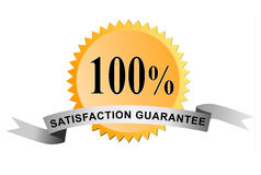 Seal 100% satisfaction. Vector art of a Seal 100% satisfaction guarantee Stock Images