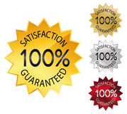 Seal 100% satisfaction guaranteed Stock Photography