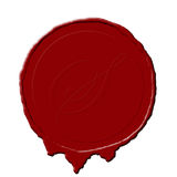 Seal. A red wax seal for a document or old paper Royalty Free Stock Photos