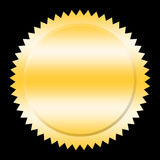 Seal. Golden seal on black background Stock Images