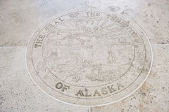 Seal of Alaska in Fort Bonifacio, Manila, Philippines Stock Photo