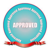 Seal of Approval. A fully scalable vector illustration of a seal of approval royalty free illustration