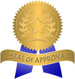 Seal of Approval/eps. Illustration of a Gold Seal of Approval royalty free illustration