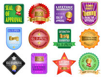 Seal of Approval Labels Royalty Free Stock Photography
