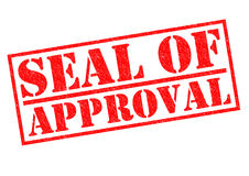 SEAL OF APPROVAL Royalty Free Stock Image