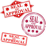 Seal of approval stamp. Seal of approval rubber stamp illustrations stock illustration