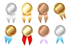 Seal of Approvals. Vector. Golden, Silver, Bronze Seal of Approvals, Isolated On White Stock Photo