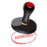 Seal. Approved stock illustration