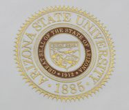 Seal of Arizona State University royalty free stock images