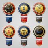 Seal and Award collection. Seal and Award golden collection Stock Photos