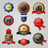 Seal and Award collection. Seal and Award retro style collection Stock Image