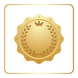 Seal award gold icon Blank medal Royalty Free Stock Photography