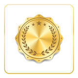 Seal award gold icon Blank medal Stock Image