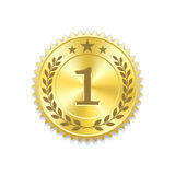 Seal award gold icon Blank medal Royalty Free Stock Photo