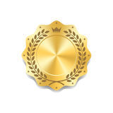 Seal award gold icon Blank medal Royalty Free Stock Images