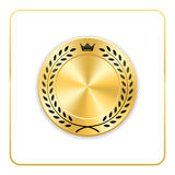 Seal award gold icon Blank medal Stock Photography