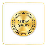 Seal award gold icon medal Royalty Free Stock Photography