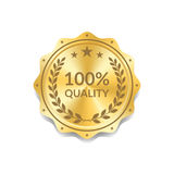 Seal award gold icon medal Royalty Free Stock Image