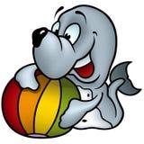 Seal and Ball Royalty Free Stock Photo