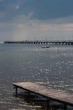 Wooden pier Jurata, Baltic Sea Royalty Free Stock Photography