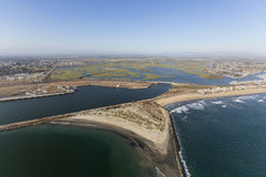 Seal Beach National Wildlife Refuge Aerial stock image