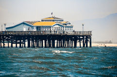 Seal Beach Pier. From off shore Royalty Free Stock Image