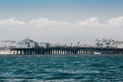 Seal Beach Pier. From off shore Royalty Free Stock Photo