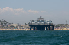 Seal Beach Pier. From off shore Stock Photography