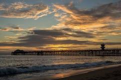 Seal Beach Pier Sunset Royalty Free Stock Photos