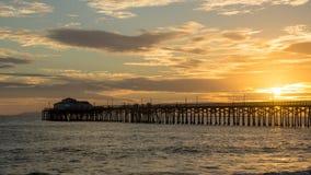 Seal Beach Pier Sunset Stock Image