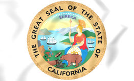 Seal of California, USA. Royalty Free Stock Image