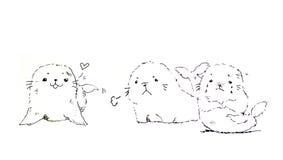 Seal cartoon illustration Stock Photos