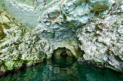 Seal cave on Kastos island Stock Photo