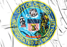 Seal of Chicago & x28;Illinois& x29;, USA. Royalty Free Stock Image